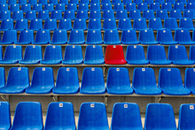 Dark Blue Rows Of Seats On The...