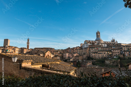 Keuken foto achterwand Parijs Panorama di Siena