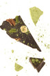 Black chocolate with almonds, hazelnuts, walnuts and pistachios and matcha powdered green tea