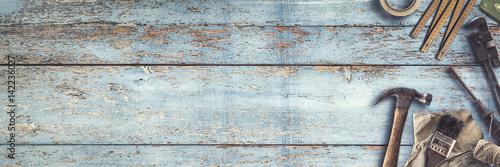Fototapeta Werkzeug | Handwerken | Heimwerken - Banner obraz