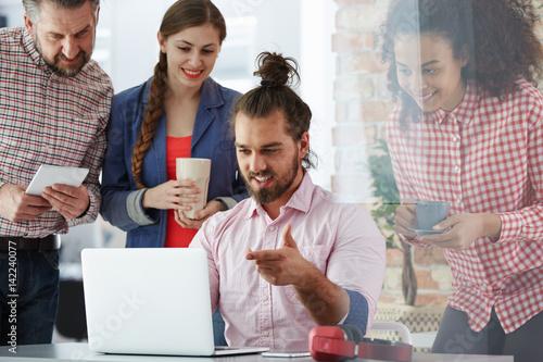 Fotografie, Obraz  Workers of advertising agency