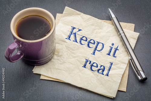 Keep it real napkin concept Canvas Print