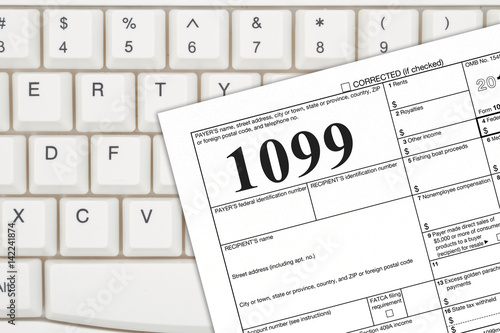 A Us Federal Tax 1099 Income Tax Form Buy This Stock Photo And
