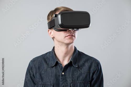 Fotografering  Man in virtual reality
