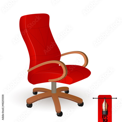 Vector Illustration Of Executive Office Boss Red Chair With Wooden Armrest Buy This Stock Vector And Explore Similar Vectors At Adobe Stock Adobe Stock