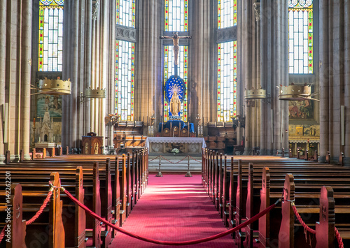 Fototapeta Istanbul, Turkey - February 18, 2017: Inside Saint Antoine church in Taksim, Ist