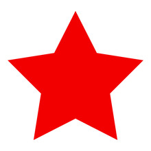 Red Star Flat Vector Pictogram. Flat Style.