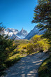 Hiking trail in the Patagonian landscape at El Chalten, Argentina, on the way to Laguna Torre