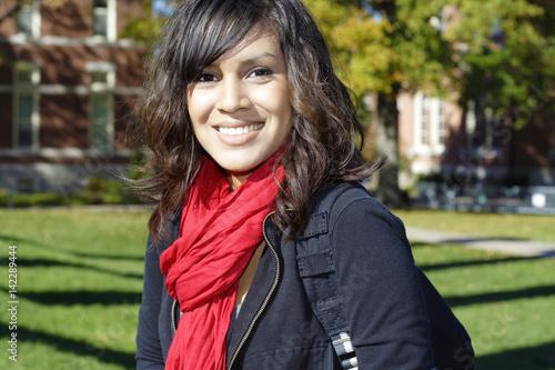 Fotografie, Obraz  Female Latino college student on campus