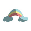 beauty rainbow with clouds image