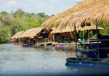 Floating Restaurant At Sirindhorn Dam In Ubon Ratchathani,THAILAND 2017