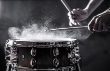 Man Plays Musical Percussion I...