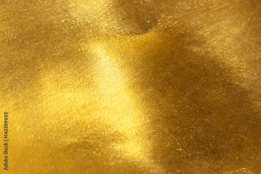 Fototapety, obrazy: Shiny yellow leaf gold foil texture