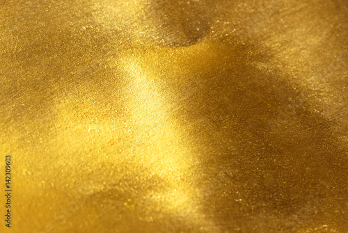 Fotografia  Shiny yellow leaf gold foil texture