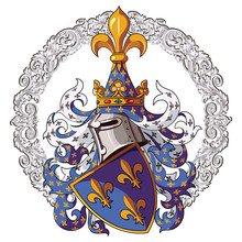 Knightly Coat Of Arms. Medieva...