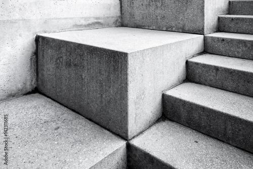 Nowożytny betonowy schody jako abstrakcjonistyczny architektury tło