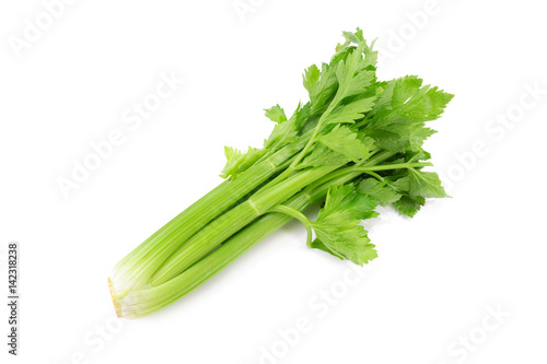 fresh celery isolated on a white background.