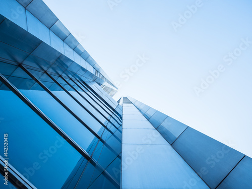 Fotografie, Tablou  Architecture details Modern Building Glass facade design Abstract Background