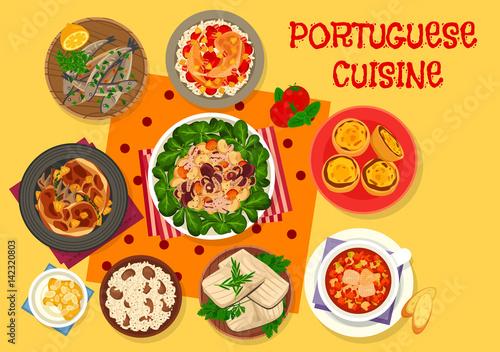 Foto  Portuguese cuisine lunch icon for menu design