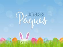 Carte « JOYEUSES PAQUES »