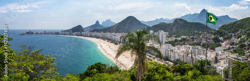 Poster Lieux connus d Amérique Blick auf die Copacabana, vom Fort in Rio de Janeiro, Brasilien