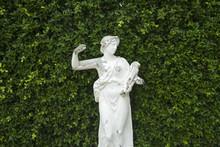 Roman Statues In The Garden