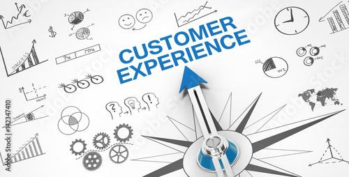 Customer Experience / Compass Wallpaper Mural