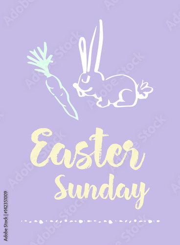 Greeting card with easter sunday message buy this stock vector and greeting card with easter sunday message m4hsunfo