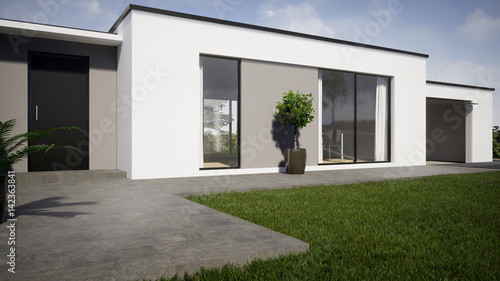 Fototapeta Perspective 3d maison 01 obraz