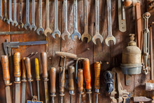 Old Tool Panel With Various To...