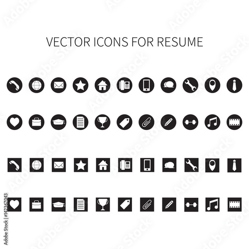 Icons For Resume.Vector Icons For Resume Buy This Stock Vector And Explore
