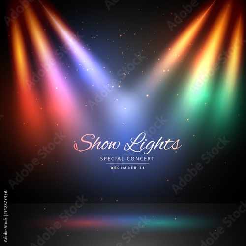 stage with colorful lights background