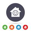 Comedy club. Smile icon. Happy face symbol.