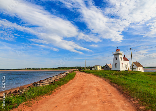 Lighthouse at North Rustico Harbour, Prince Edward Island, Canada