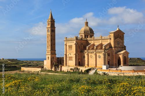 Foto op Aluminium Monument Ta Pinu Sanctuary, Gharb, Gozo Island. Malta