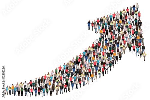 Leinwand Poster Menschen Gruppe Leute Menschengruppe Erfolg Wirtschaft Wachstum erfolgreich Busi