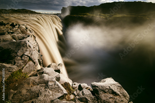 Obraz na plátne  Detifoss is the greatest debit waterfall in Iceland Northern Iceland