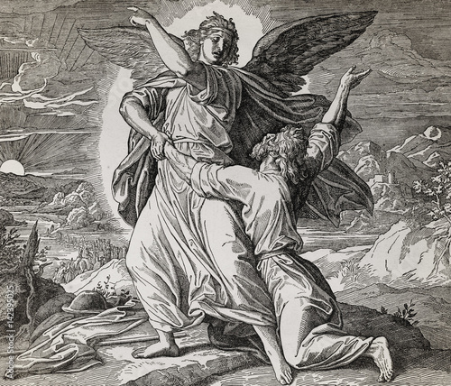 jakub-zmagajacy-sie-z-aniolem-bozym-graficzny-kolaz-z-grawerowania-nazarenskiej