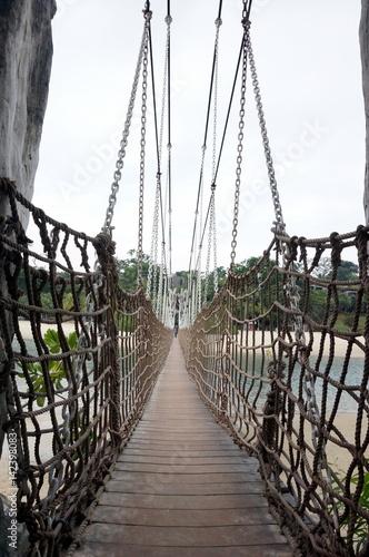 Photo  Hanging bridge in Sentosa