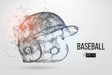 Silhouette Of A Baseball Helmet. Vector Illustration