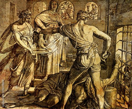 Beheading of St Canvas-taulu