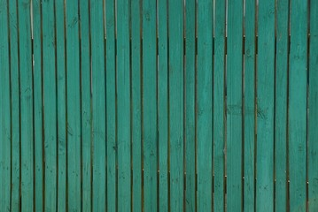 Зелёная текстура старого деревянного забора