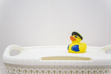 Yellow Rubber Pirate Duck In B...