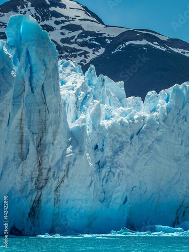 Fotobehang Gletsjers Icy front of Perito Moreno, Patagonia, Argentina