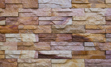 Colorful Sandstone Bricks Wall...