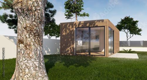 Photo Vue 3d abri de jardin