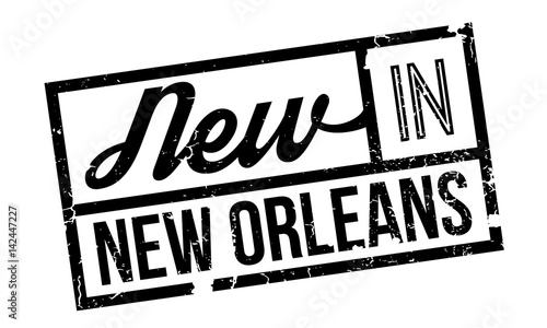 Photo New In New Orleans rubber stamp