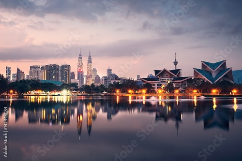 Photo Stands Kuala Lumpur Kuala Lumpur at the sunrise