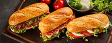 Trio Of Three Fresh Sandwiches