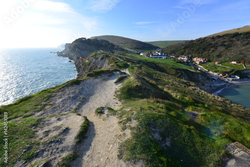 Foto op Aluminium Eiland Lulworth cove near the village of West Lulworth in Dorset, Southern England